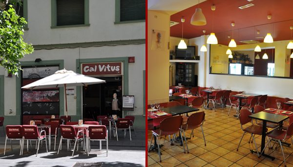 Exterior i interior del restaurant Cal Vitus